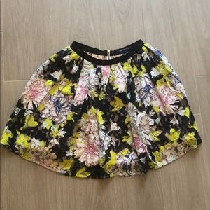 French Connection High waist flair mini skirt